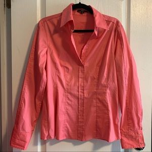 Hugo Boss Bashina Pink Stretch Cotton shirt
